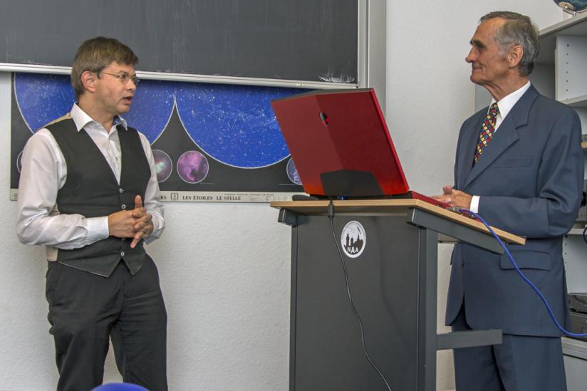 Helmut Fink (li.) und Prof. Bernd Schmidt (re.)