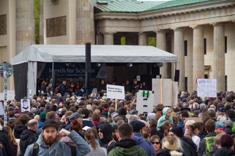 Abschlusskundgebung auf dem Pariser Platz