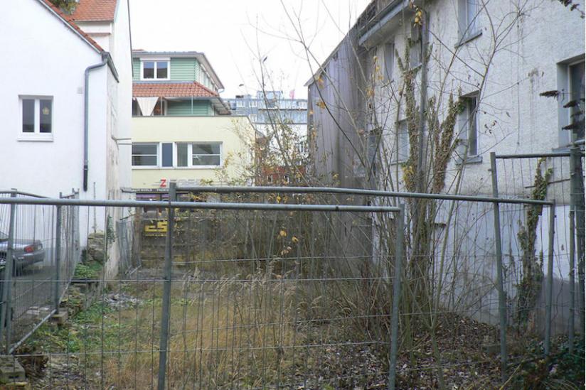Das Grundstück, auf dem die Synagoge nicht gebaut wird.