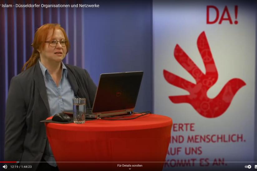 """Wir sind DA! sigrid_herrmann-marschall_da Reaktionen zum Vortrag """"Politischer Islam - Düsseldorfer Organisationen und Netzwerke"""" Meldung"""