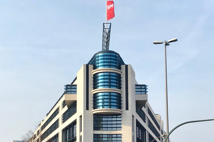 Die SPD-Zentrale in Berlin wirkt wie eine uneinnehmbare Burg