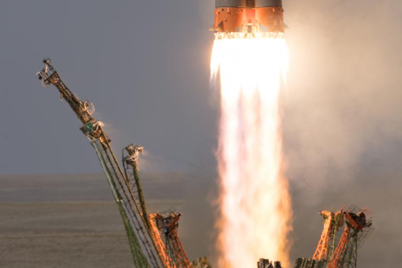 Start der Sojus-Rakete
