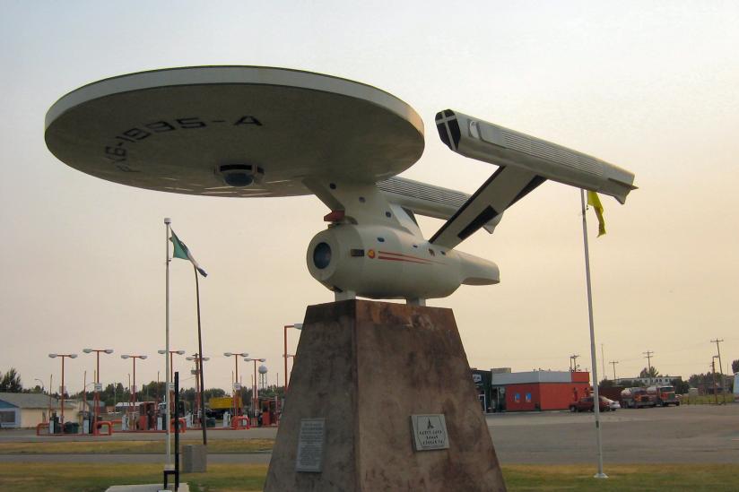 """Die Skulptur eines Raumschiffs aus """"Star Trek"""""""