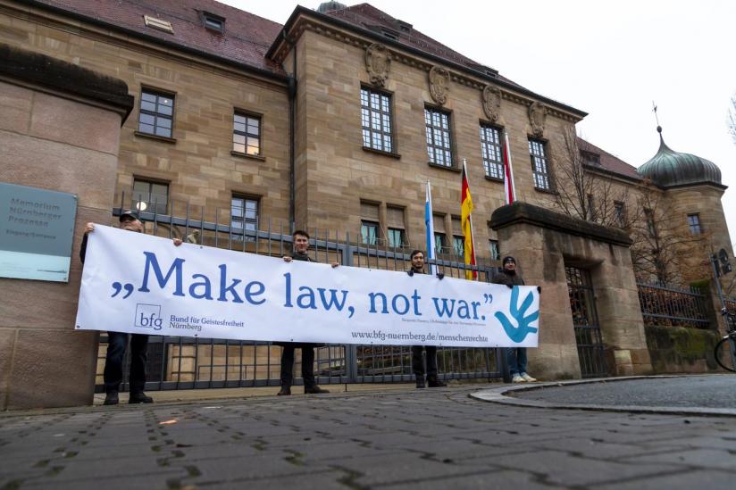 Aktion zum Tag der Menschenrechte