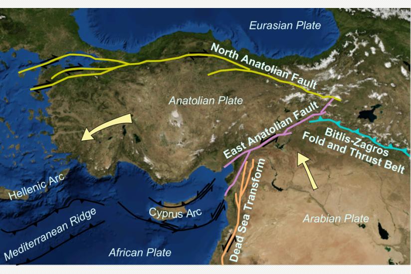 Tektonische Verwerfungen in Kleinasien [1]