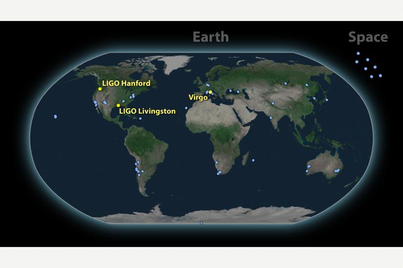 Rund 70 Teleskope weltweit beobachteten das elektromagnetische Gegenstück des Gravitationswellen-Signals GW170817