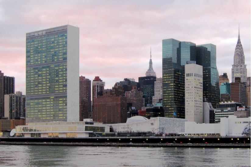 Das UN-Hauptquartier am East River