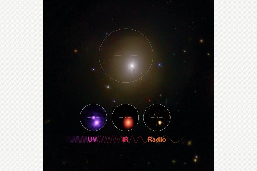 Das Nachleuchten des Crashs im Ultraviolett-, Infrarot- und Radio-Bereich
