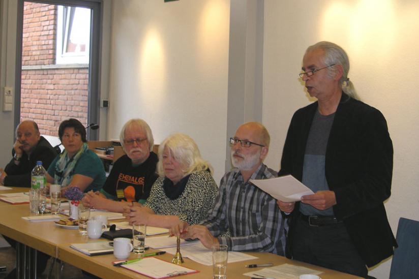 Hubertus Zdebel, MdB (DIE LINKE), bei der Eröffnung der VEH-Konferenz