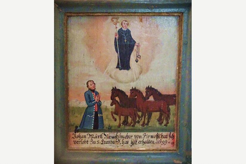 Der Heilige Leonhard, Schutzpatron der Pferde