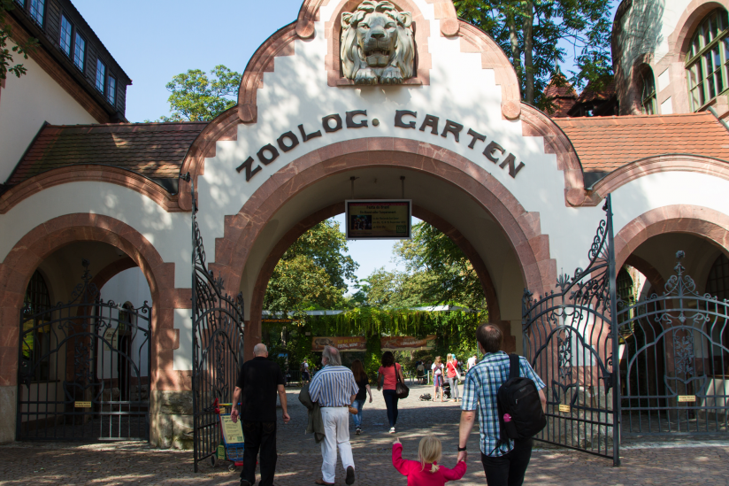 Zoo Leipzig, Eingangsbereich