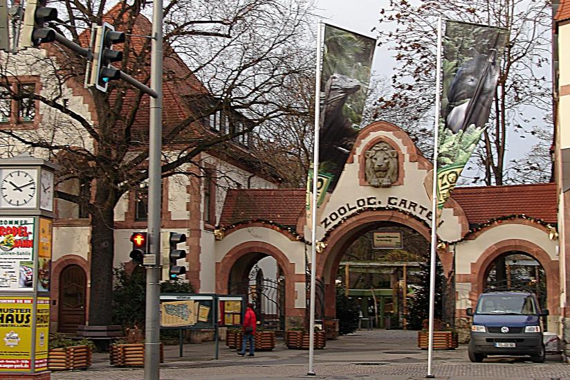 Eingang des Leipziger Zoos