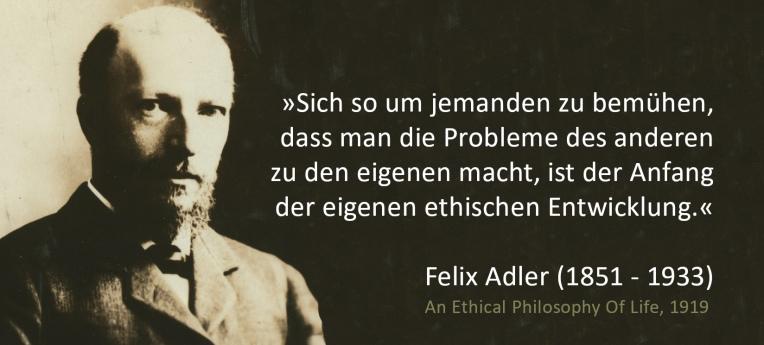 Felix Adler um 1913