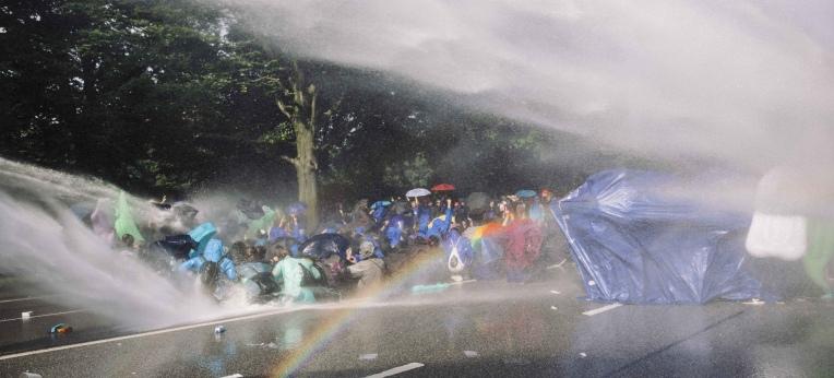 Regenbogenwerfer-Einsatz