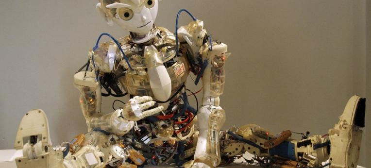 Der an der Universität Tokyo entwickelte humanoide Roboter Kotaro (2008)