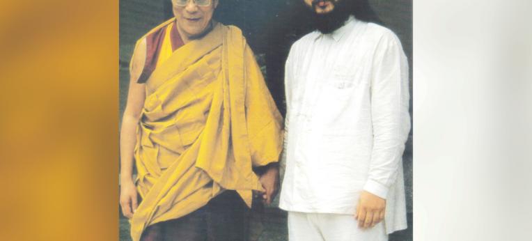 Der Dalai Lama und Shoko Asahara