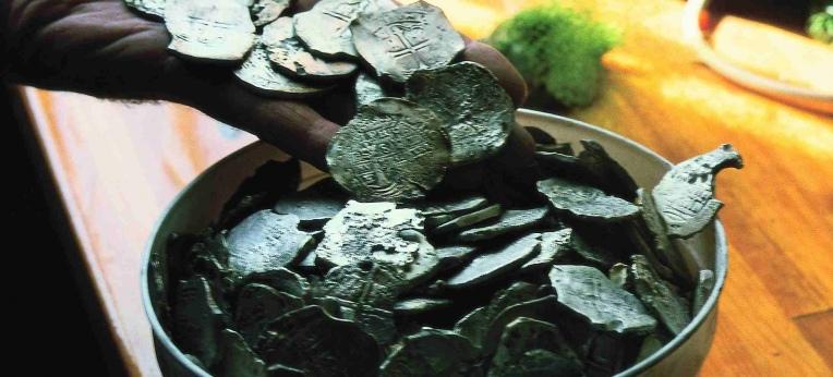 Silbermünzen aus dem Wrack der Batavia