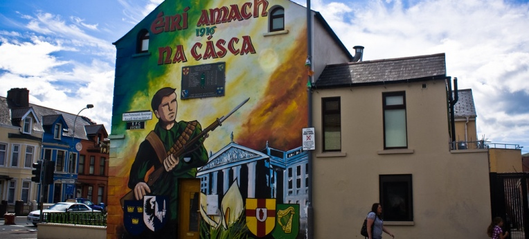 In Belfast ist die Erinnerung an den Bürgerkrieg allgegenwärtig.