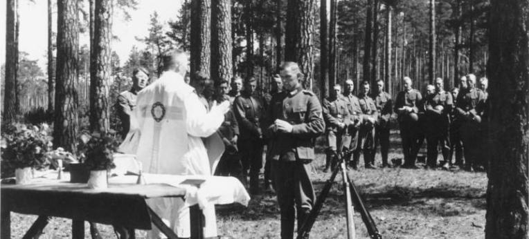 Feldgottesdienst für deutsche Soldaten