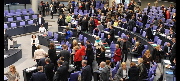 Abstimmung zum Sterbehilfegesetz im Deutschen Bundestag