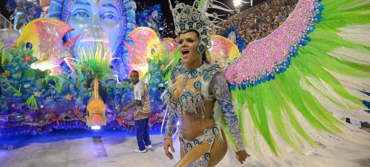 Tänzerin beim Karneval in Rio de Janeiro 2017.