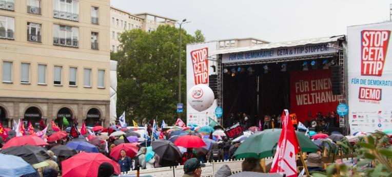 Demo gegen CETA und TTIP