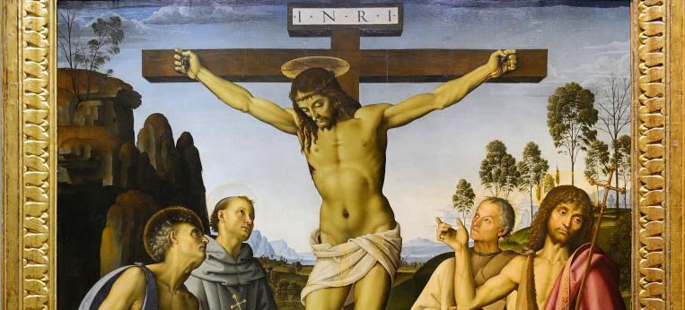 """""""Kreuzigung mit Heiligen"""" von Pietro Perugino"""