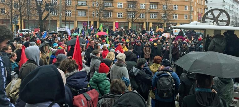 Der Rosa-Luxemburg-Platz vor der Volksbühne am 26. Januar 2019