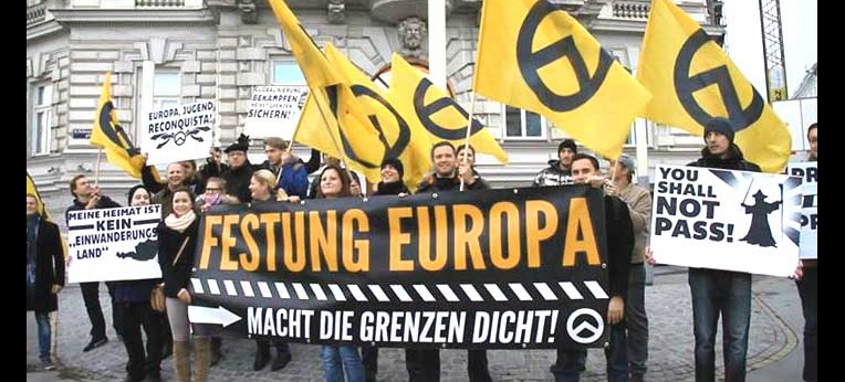 """Demonstration der """"Identitären"""" in Wien (2013)"""