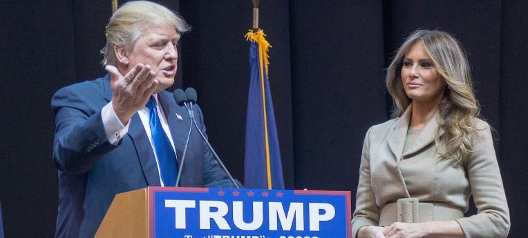 Donald und Melania Trump während des Wahlkampfes 2016