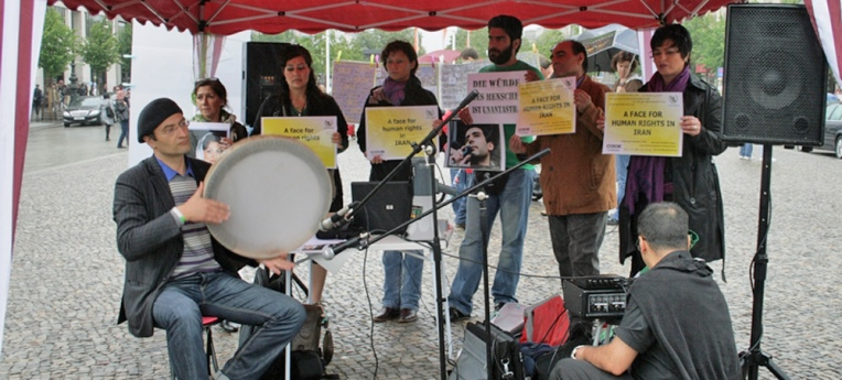 Protest für Menschenrechte im Iran (2011)