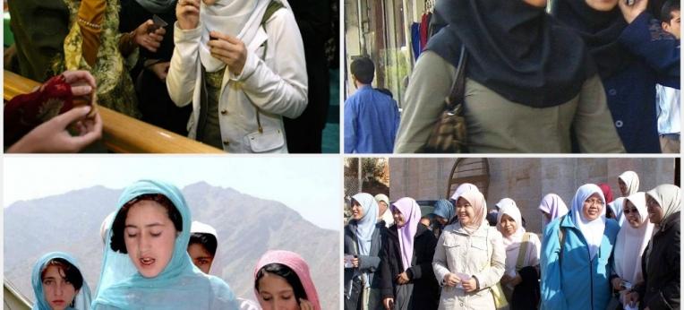 Frauen mit Hijab