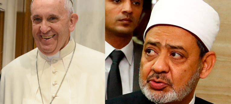 Verfechter der Menschenrechte: Papst Franziskus (li) und Großimam Achmed al-Tayyeb (r)