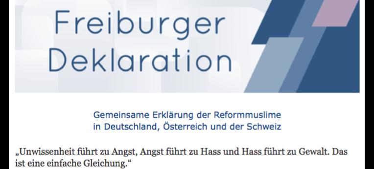 Titelblatt der Freiburger Deklaration (Ausschnitt)