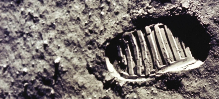 Fußabdruck im Mondstaub (21.07.1969)