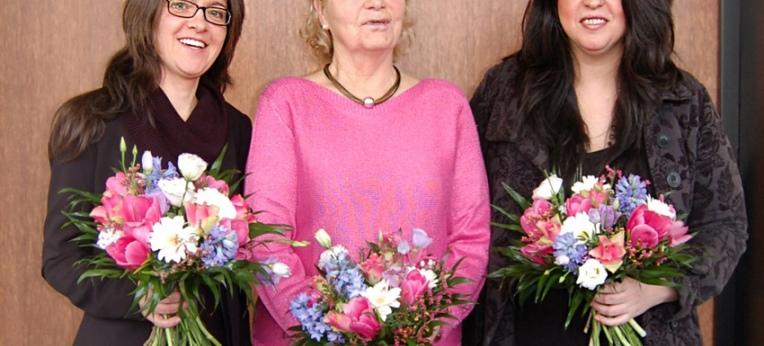 Josephin Poweleit, Jutta Kollmorgen und Tania Lescano