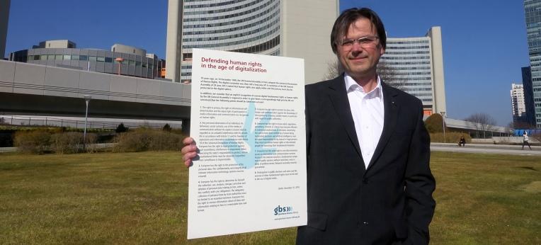 Petr Zak bei der UNO in Wien.