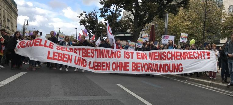 Demo für sexuelle Selbstbestimmung