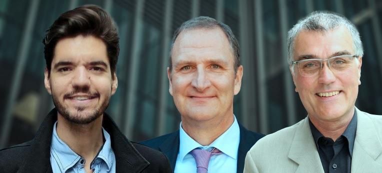 Adriano Mannino, Lutz Jäncke und Thomas Metzinger (v. l. n. r.)