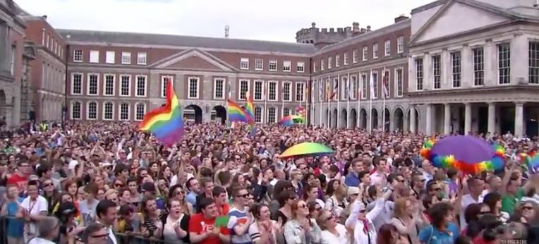 """Ireland votes to legalise gay marriage"", Screenshot YouTube"
