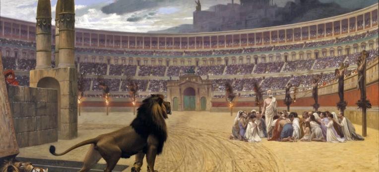 Das letzte Gebet der Christen im Circus Maximus, Ölbild von Jean-Léon Gérôme