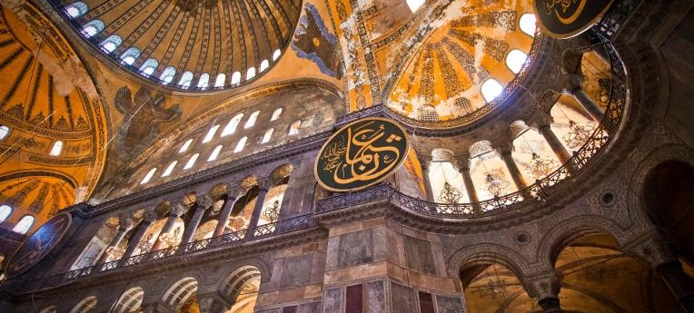 Der Innenraum der Hagia Sophia