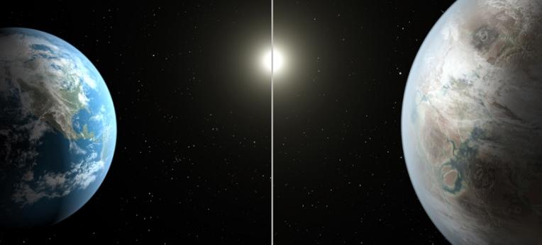 Vergleich Erde/Kepler 452b