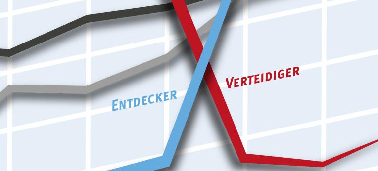 """Keyvisual zur Erhebung """"Von Verteidigern und Entdeckern"""""""