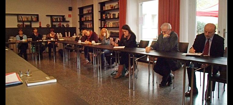 Konferenzteilnehmer der wissenschaftlichen Tagung zum Transhumanismus