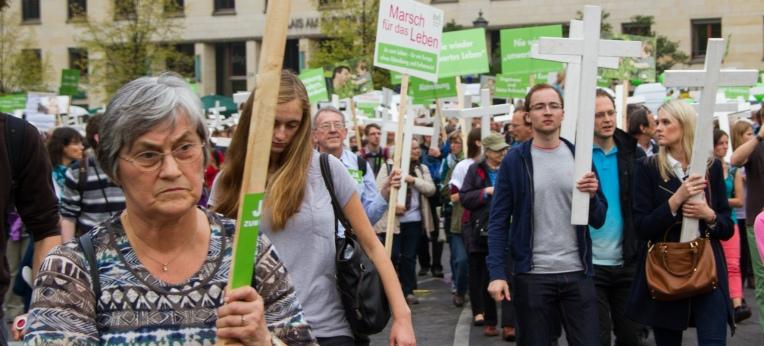 """""""Lebensschützer"""" beim """"Marsch für das Leben"""""""