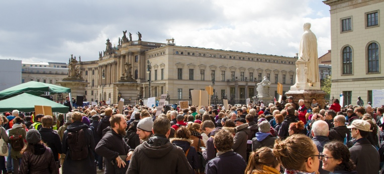 Auftaktveranstaltung beim March for Science 2017 in Berlin