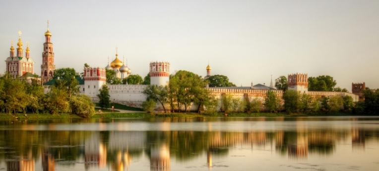 Sonnenuntergangsstimmung über Moskau
