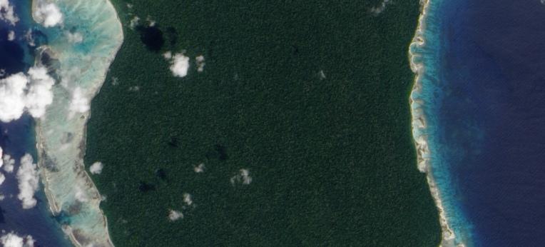 North Sentinel Island, Satellitenfoto der NASA, 2009