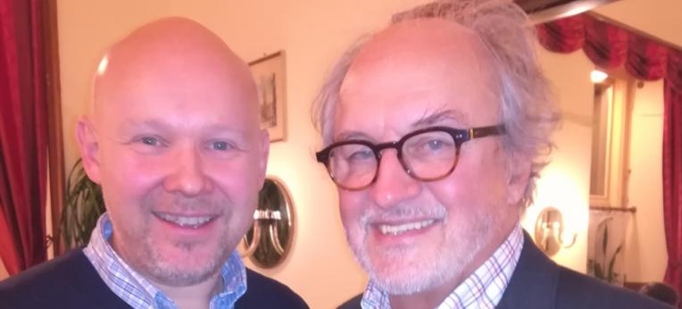 Trond Enger (li.), Secretary General des Human-Etisk Verbond  mit Gerhard Engelmayer vom HVÖ.